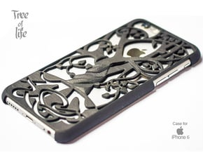 "Iphone 6 cover ""Tree of life"" in Black Natural Versatile Plastic"