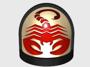 10x Scorpio Legion - G:7a Shoulder Pad in Smooth Fine Detail Plastic