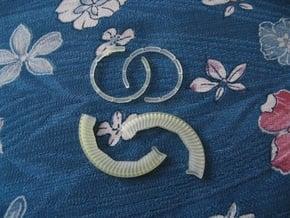Disk Pendant: Tritium, Part 2 of 2 in Smoothest Fine Detail Plastic