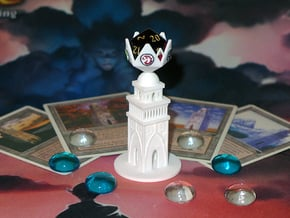 Urza's Tower D20 Holder in White Processed Versatile Plastic