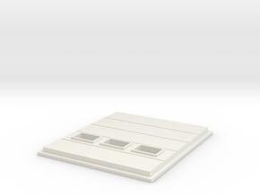 Truck Dock Door; Windows in White Natural Versatile Plastic