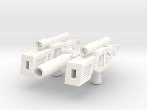 ShineHead Guns in White Processed Versatile Plastic