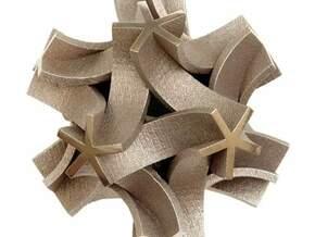 Origami I, large in White Natural Versatile Plastic