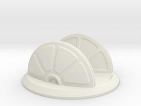Large Shield Generator in White Natural Versatile Plastic