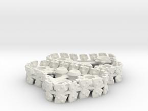 Steam Gargant Style Twin Set Tracks in White Natural Versatile Plastic