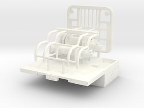 1/50 Winch Truck Short Bed, 8 foot wide in White Processed Versatile Plastic