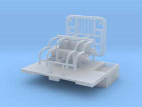 1/87th Winch Truck Short Bed, 10 foot wide in Smooth Fine Detail Plastic