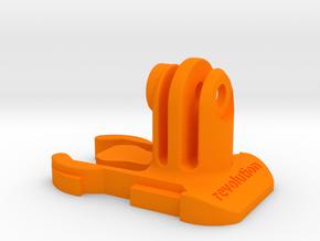 Short Direct Mount GoPro Quick Release Clip in Orange Processed Versatile Plastic