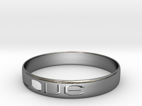 RING  LOVE   U.S Size 6 3/4 in Polished Silver