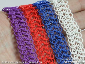 Euro 6-in-1 Chainmail Bracelet B in White Natural Versatile Plastic
