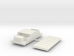 P1 Barge Mortar C2, Storage, or Barracks 3x8 1to28 in White Natural Versatile Plastic