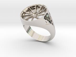 Vossen CVT Ring Size10 in Rhodium Plated Brass