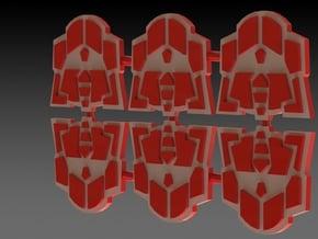 G2 Symbol Set Of 6 in White Natural Versatile Plastic