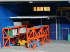 N Scale Warehouse Rack in Smooth Fine Detail Plastic