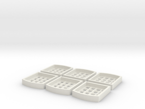 Window Inserts For S2 Centre Part in White Natural Versatile Plastic
