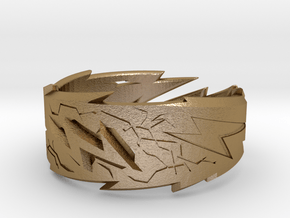 Power : Zeus Ring Size 10 in Polished Gold Steel