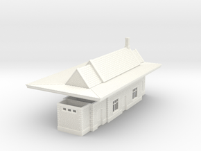 N Scale GWR  Brimscombe Railway Station 1:148 in White Processed Versatile Plastic