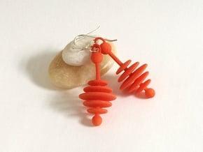 Colorful Honey Dripper Earrings in Orange Processed Versatile Plastic