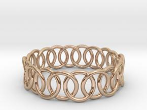 Ring Bracelet 65 in 14k Rose Gold Plated Brass