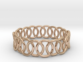 Ring Bracelet 68 in 14k Rose Gold Plated Brass