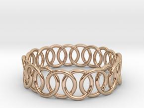 Ring Bracelet 70 in 14k Rose Gold Plated Brass