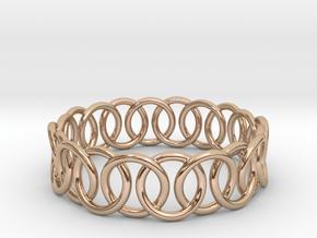 Ring Bracelet 73 in 14k Rose Gold Plated Brass