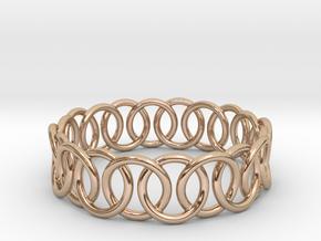 Ring Bracelet 75 in 14k Rose Gold Plated Brass
