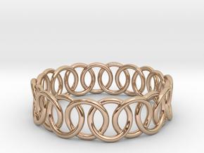 Ring Bracelet 78 in 14k Rose Gold Plated Brass