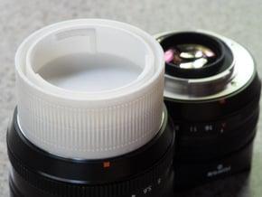 Fuji X mount double lens cap in White Processed Versatile Plastic