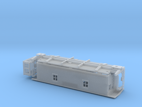 GTW Wood Underframe Caboose  HO Scale in Smooth Fine Detail Plastic