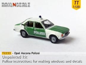 Opel Ascona Polizei (TT 1:120) in Smooth Fine Detail Plastic