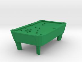 Pool Table - Balls Broke 'O' Scale in Green Processed Versatile Plastic