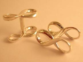 Lemniscate Cufflinks in Fine Detail Polished Silver