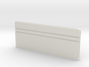 Open Sliding Steel Gate in White Natural Versatile Plastic