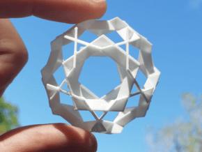 Asterisk Ball - 4.8 cm in White Natural Versatile Plastic