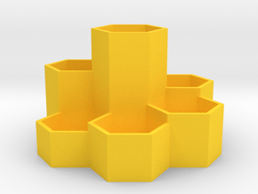 honeyXomb Makeup Organizer in Yellow Processed Versatile Plastic