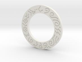Mecha Glove - Scorpion Box - Lower Ring in White Natural Versatile Plastic