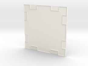 Wall 001a in White Processed Versatile Plastic