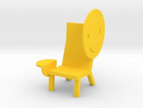 'EMOJI CHAIR - SMILE' by RJW Elsinga 1:10 in Yellow Processed Versatile Plastic