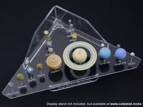 Solar System models - all planets and major moons in Full Color Sandstone