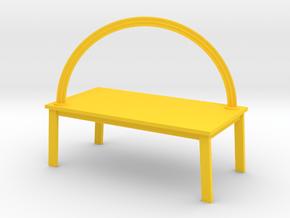 RAINBOW TABLE by RJW Elsinga 1:12 in Yellow Processed Versatile Plastic