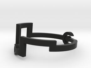 Link [Bangle Bracelet ∅ 6 cm] in Black Natural Versatile Plastic