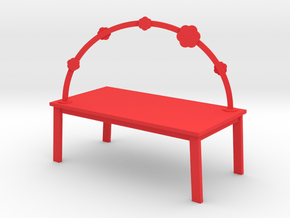 RAINBOW TABLE - BLOSSOM by rjw elsinga 1:12 in Red Processed Versatile Plastic