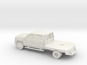 1/87 2015 Chevrolet Silverado Dually  in White Natural Versatile Plastic