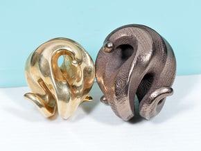 G3 Pendant in Polished Bronze Steel: Medium