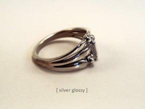 Marudai ring in Polished Silver