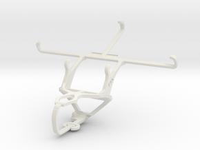 Controller mount for PS3 & Alcatel Hero in White Natural Versatile Plastic