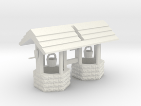Wishing Well Base Block01 'O' 48:1 Scale Qty (2) in White Natural Versatile Plastic