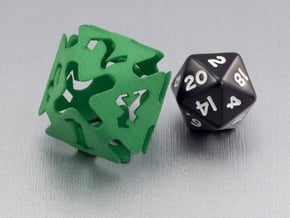 Big die 8 / d8 26 mm / dice set in Green Processed Versatile Plastic