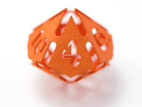 Big die 10 / d10 28mm / dice set in Orange Processed Versatile Plastic